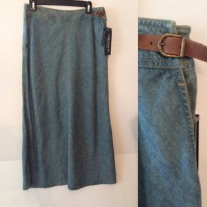 NWT Modest Long Jean Skirt Ralph Lauren Jeans Co